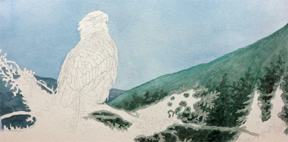 Eagle painting WIP3